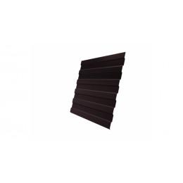 Профнастил С8А Дачный PE RAL 8017 шоколад 2м