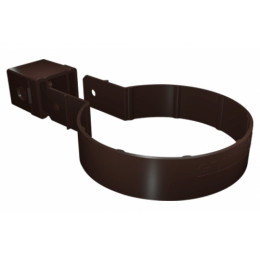 Хомут трубы Kliker ПВХ Grand Line Premium коричневый (инд.упак.) (RR 32)