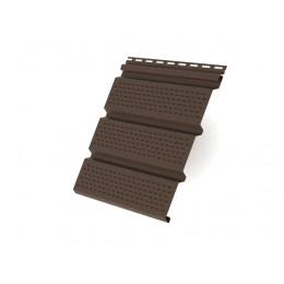 Софит T4 полностью перфорированный Grand Line виниловый 3,0 коричневый