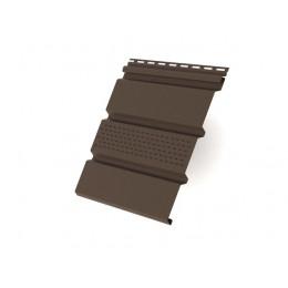 Софит T4 частично перфорированный Grand Line виниловый 3,0 коричневый