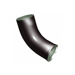 Колено стока Optima 90мм RR 32 темно-коричневый