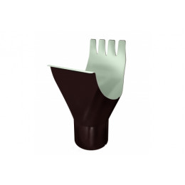 Воронка Optima 125/90мм RAL 8017 шоколад