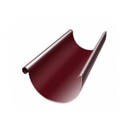 Желоб полукруглый 125 мм 3 м RAL 3005 красное вино