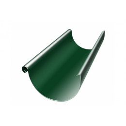 Желоб полукруглый 125 мм 3 м RAL 6005 зеленый мох